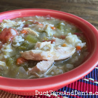 Chicken Enchilada Soup with Rice