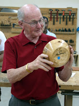 Photo: Stan Sherman doesn't only turn segmented pieces. Here he is with a cherry bowl...
