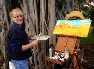 Photo: Diane Hagg painting at Dubois Park
