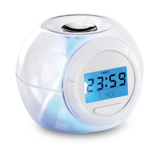 Colour changing mood light alarm clock
