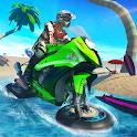 Water Surfer Bike Beach Stunts Race icon