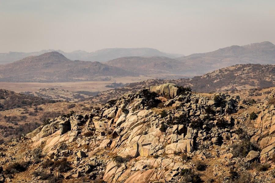 Top of Mount Scott by Jim Hendrickson - Novices Only Landscapes ( mountain, oklahoma, landscape, rocks, weathered )