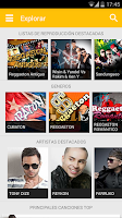 Screenshot of music reggaeton