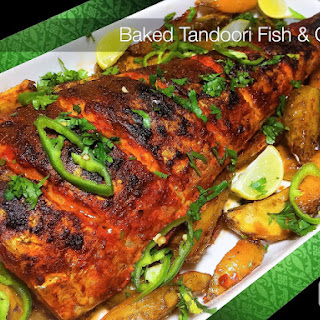 Baked Spicy Tandoori Fish & Chips