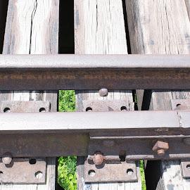 Small portion of Kinzua by Rebecca OMahen - Transportation Railway Tracks ( train track, elevation )