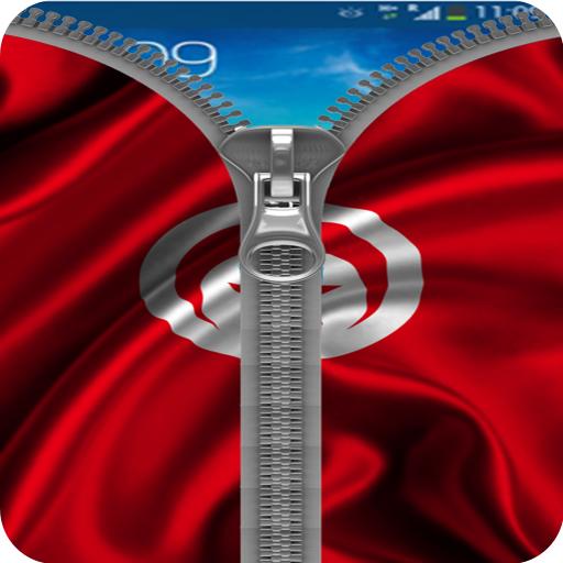 Tunisia Flag Zipper Lock