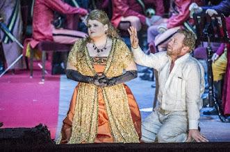 Photo: TANNHÄUSER in Innsbruck (14.5.2016). Inszenierung: Johannes Reitermeier. Josefine Weber, Daniel Kirch. Copyright: Larl/Tiroler Landestheater.