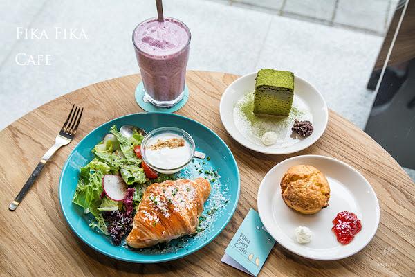內湖明亮咖啡館 -義大利乳酪可頌早午餐與抹茶蛋糕