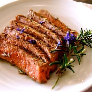 Lavender Rosemary Grilled Rib-Eye Steak.