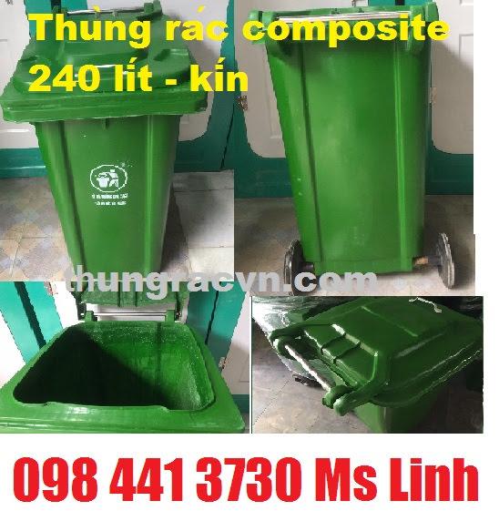 thùng rác 240L composite