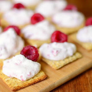 Raspberry Cannoli Cream Bites (Easy Hors d'Oeuvres)