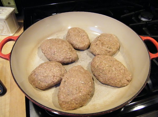 In a large skillet over medium-high heat, brown both sides of patties.  Pour...
