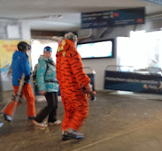 Photo: Random dude in tiger suit. (If I had to guess, I'd say Russian)