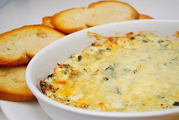Awesome Shrimp, Spinach and Artichoke Dip. (photo from internet but looks just like mine.  I will post one of mine next time I make it).