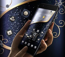 Blue Silver Gold Business Theme