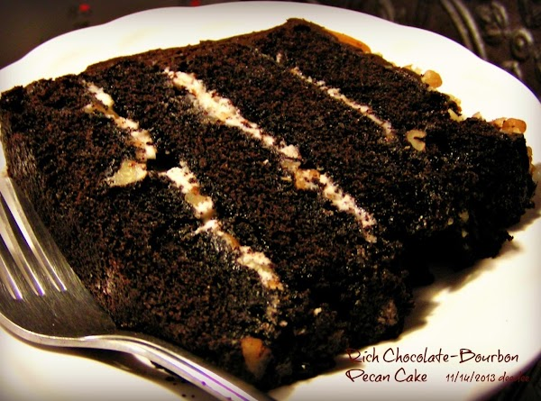 Rich Chocolate-bourbon Pecan Cake Recipe
