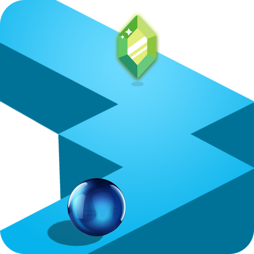Endless Zigzag Runner 2D