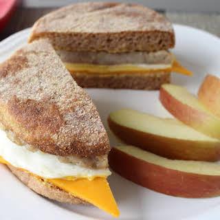 Chicken Sausage and Egg Breakfast Muffin.