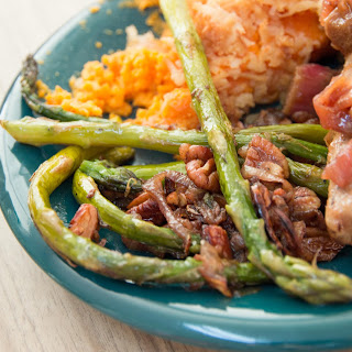 Asparagus with Pecans and Shallots