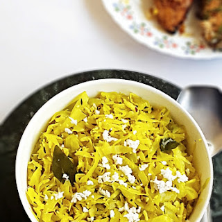 Cabbage thoran recipe - Kerala style cabbage with coconut