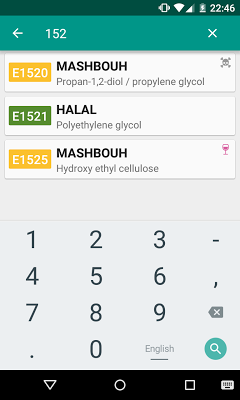Halal E-Numbers - screenshot