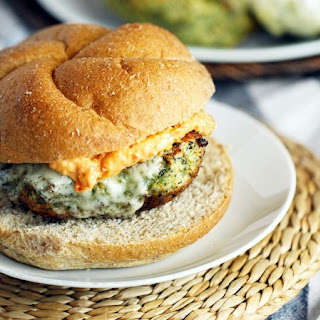 Spinach & Artichoke Turkey Burgers with Sundried Tomato Garlic Mayo