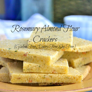 Rosemary Almond Flour Crackers {Gluten-Free, Dairy-Free, Soy-Free}