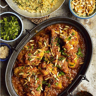 North African chicken with honey and saffron