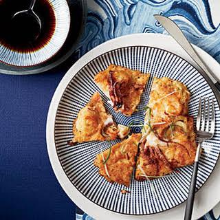 Korean Seafood Pancakes.