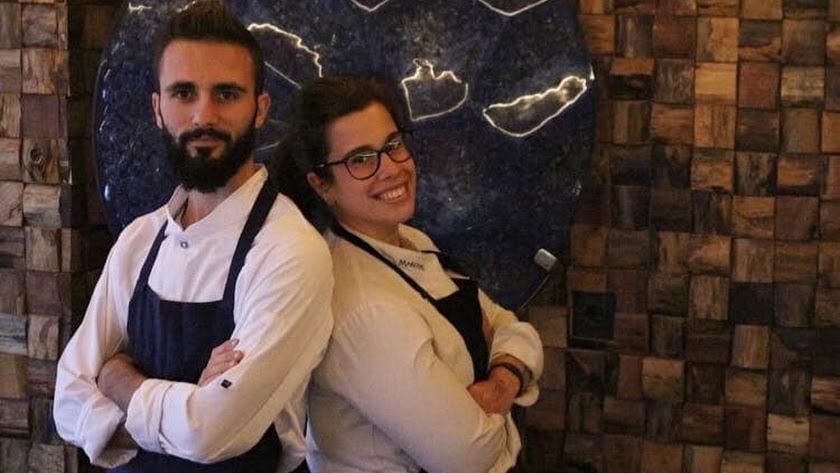 Estefanía Marchal y  Miguel Angel González.
