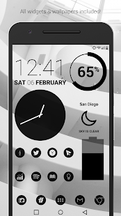 Dark Void - Black Circle Icons (Pro Version) Screenshot