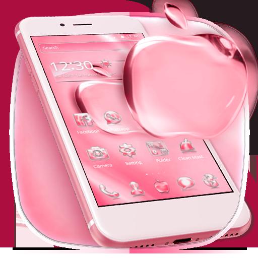 Pink Shining Crystal Apple Theme