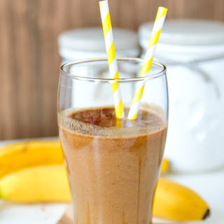 Peanut Butter, Banana and Coffee Smoothie.