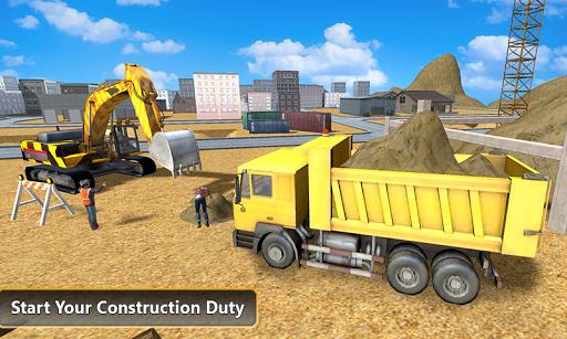 重型挖掘机自卸车3D