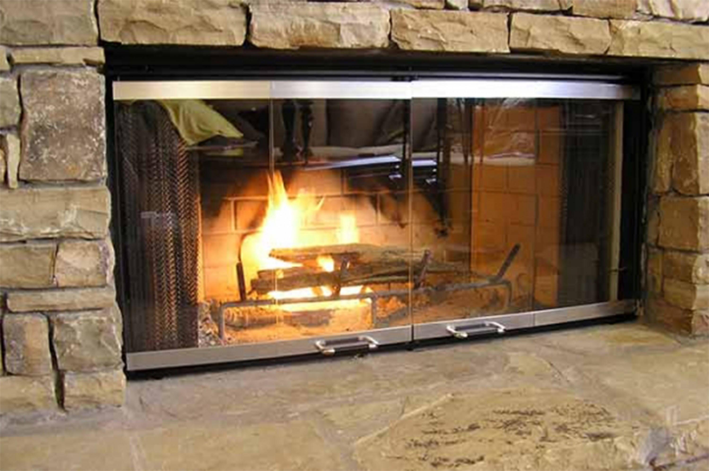 Instalar puertas de chimenea de cristal a medida sin obras bricoblog - Como colocar una chimenea de lena ...