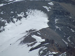 Photo: The top view of steepy ascent on right side