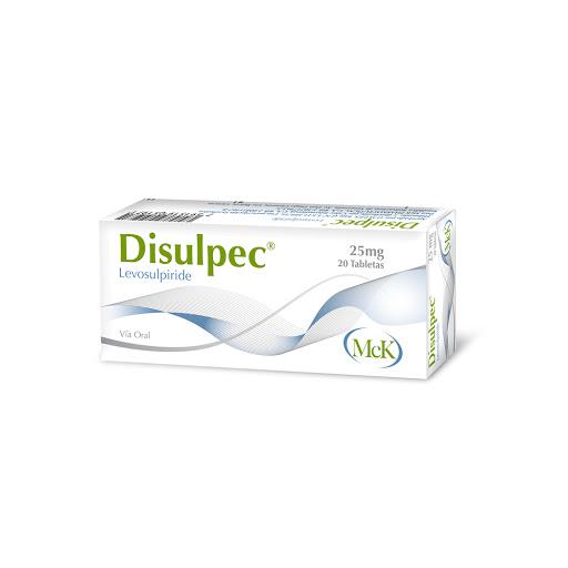 Levosulpiride Disulpec 25Mg 20 Tabletas MCK Calox