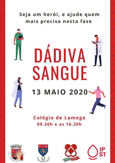 Dádiva de Sangue – Lamego – 13 de maio de 2020