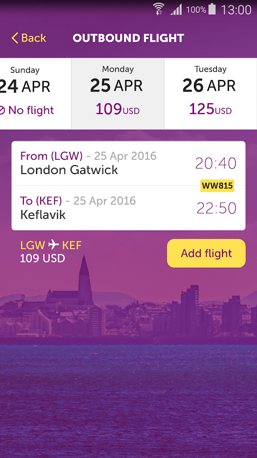 WOW air- screenshot