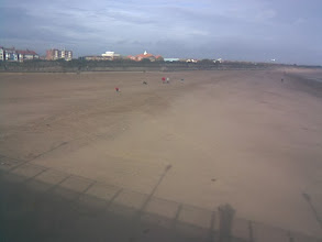 Photo: No camera trickery here, that's miles of good beach on the North shore of Skeggy