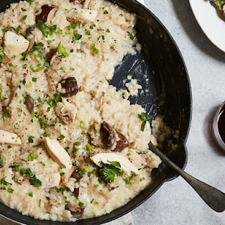 Baked Chicken and Mushroom Risotto.