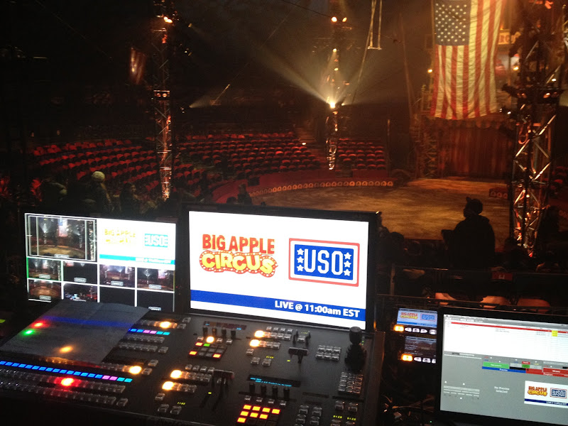 Photo: The control board for streaming the Big Apple Circus to YouTube and Google+ (Big Thanks Under the Big Top! | November 14,2012)