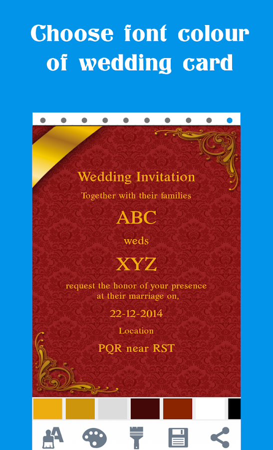 Hindu Wedding Invitation Cards Screenshot
