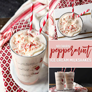 No Churn Peppermint Ice Cream Milkshake.