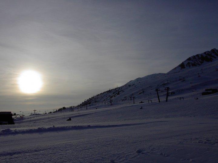 Fine di un giorno sugli sci di pandora