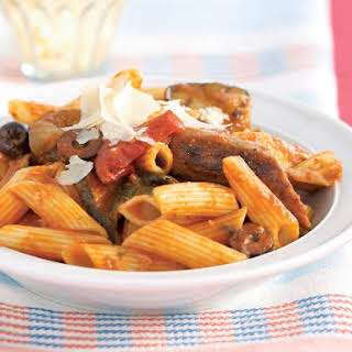 Sausage Pasta with Chargrilled Antipasto.