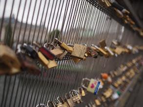 Photo: Love locks.