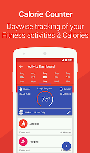 Health Pal Fitness - Weight loss coach & Pedometer Screenshot