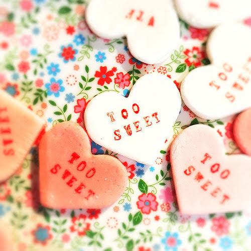 Valentine day, Heart Candy, conversation candy, recipe, treat, sweetheart candy, homemade, personalized