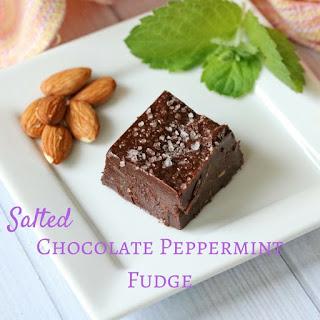 Salted Chocolate Peppermint Fudge Recipe